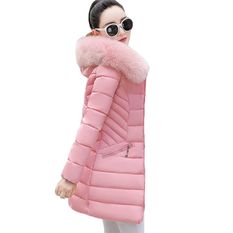 NEW Winter Jacket Women Hooded Parka Long Coats Cotton Padded Ladies Winter Coat Women Warm Thicken Outerwear Female M-3XL Y126