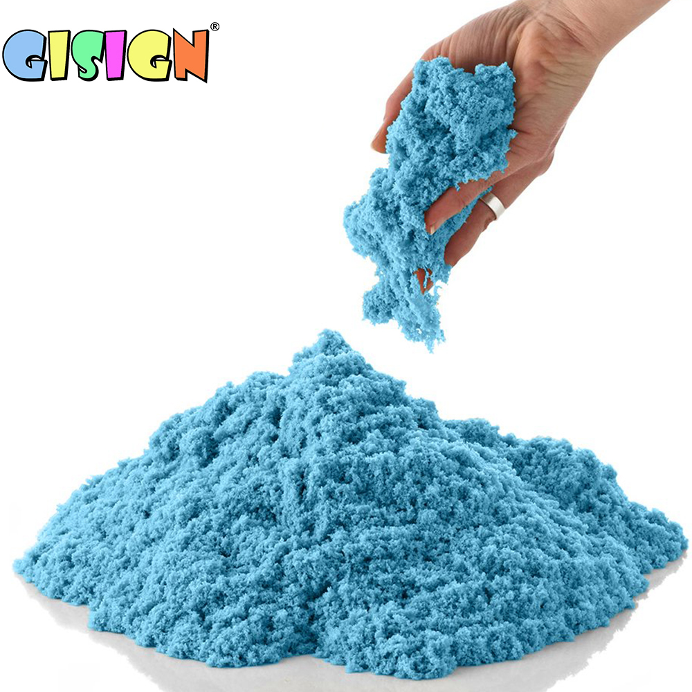 100g Dynamic Sand Toys Magic Clay Colored Soft Slime Space Sand Supplies Play Sand Model Tools Antistress Toys For Kid