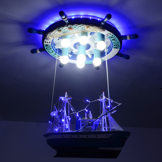 aliexpress koop creatieve piratenschip led hanglampen