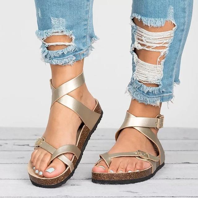 469f64069fd31 Factory Direct Sandals Women 2019 Summer Shoes Women Flat Sandals For Beach  Chaussures Femme Clog Plus Size 43 Casual Flip Flop