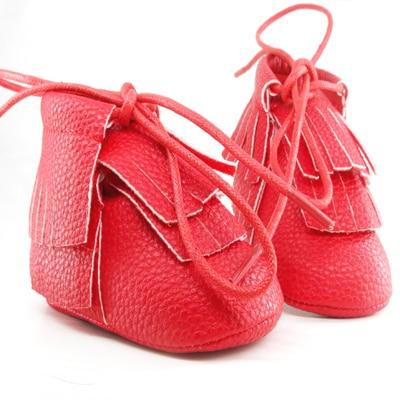 100% authentique 7acdb 8beee € 6.36 |Bébé bottes chaussures filles princesse premiers marcheurs semelle  rouge bébé mocassins en cuir pu frange bottes chaussure dans Premiers ...