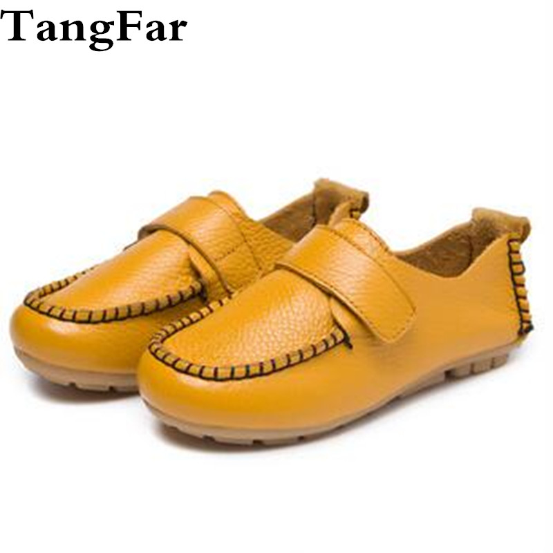 Children School Shoes Flat Heel Genuine Leather Loafers Boys Waterproof Comfortable Performance Dress Slip-on Moccasins