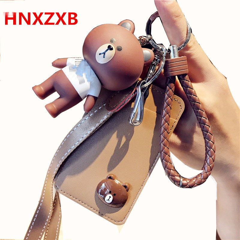 HNXZXB Name Credit Card Holders Women Men PU Bank Card Neck Strap Card Bus ID holders candy colors Identity badge with lanyard high grade pu card holder staff identification card neck strap with lanyard badge neck strap bus id holders
