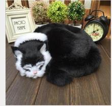 WYZHY Simulation cat ornaments, fur crafts, home decoration, desktop decoration  31CMx29CMx10CM