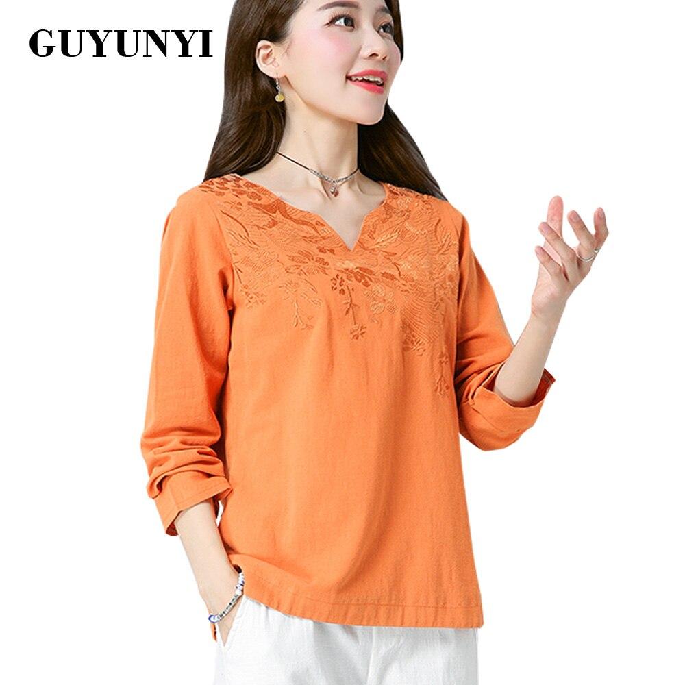 GUYUNYI Вишиванка Блуза Білизна - Жіночий одяг