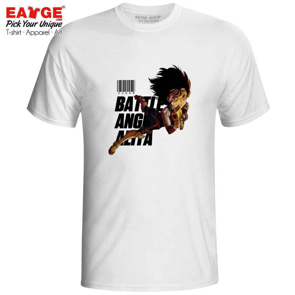 Battle Angel Alita T-shirt Pop Anime Movie Gunnm Gully Gally Novelty Brand Rock T Shirt Active Fashion Skate Women Men Top Tee active shirt