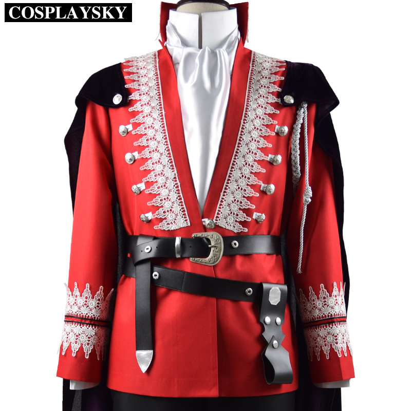 Once Upon a Time Prince Cosplay Costume Red Coat Jacket Halloween Uniform Outfit Shirt Pants Cloak Full Set