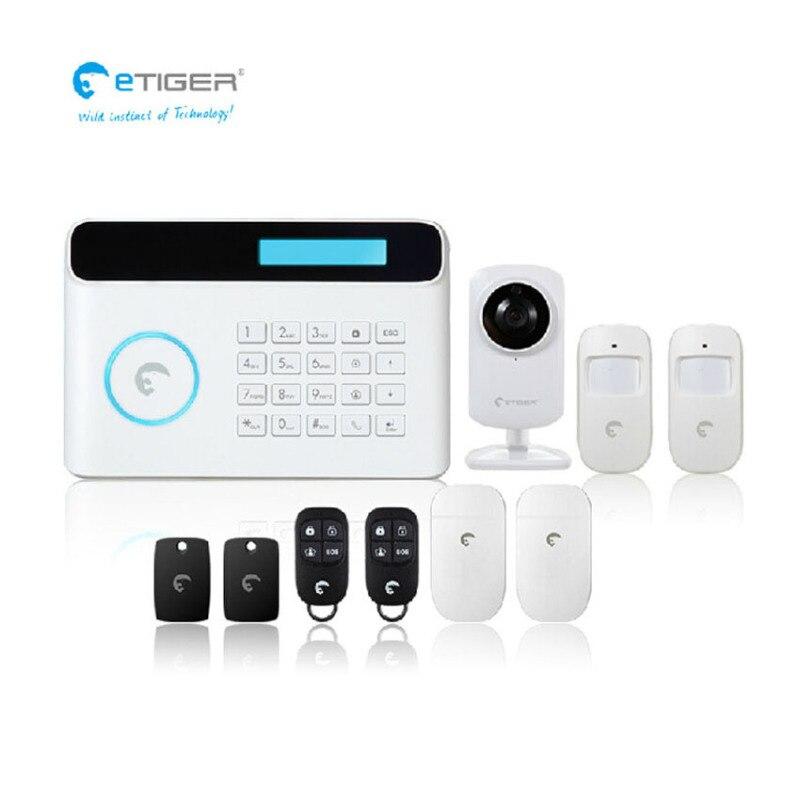 חכם בית אוטומציה מודולים eTIGER S4 אלחוטי GSM + PSTN מערכת אזעקת 433 mhz עם Wi-Fi IP מצלמה