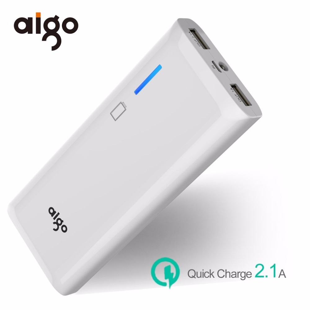 Aigo Portable 11200mAh 3.7V Power Bank Mobile Battery Charger LED Light Torch for Mobile Phone Tablet PC