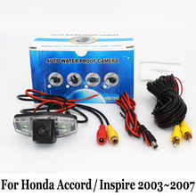 Для Honda Accord/Inspire 7-й 2003 ~ 208/RCA Кабель aux или Беспроводной Автостоянка Камера/HD CCD Ночного Видения Заднего Вида камера