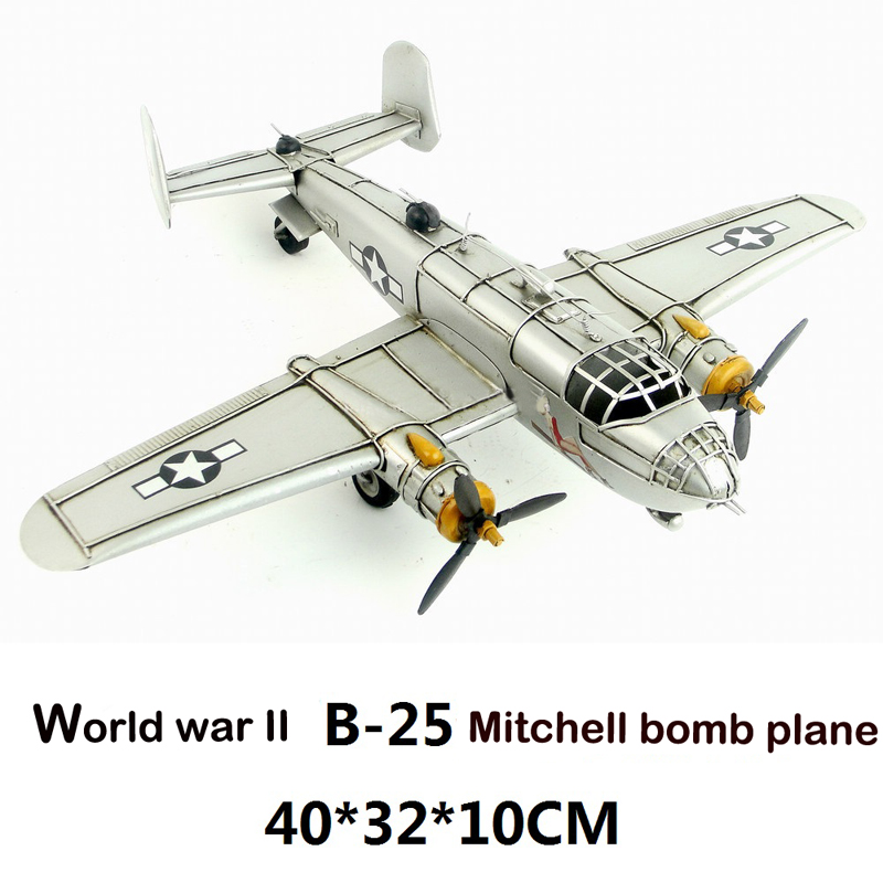 Retro airplane model World war II Cher bomber Plane  Metal Simulation Model Diecast Handmade fire ballon Iron crafts collection retro tinplate metal motocross models collection classic handmade arts and crafts dirt bike model