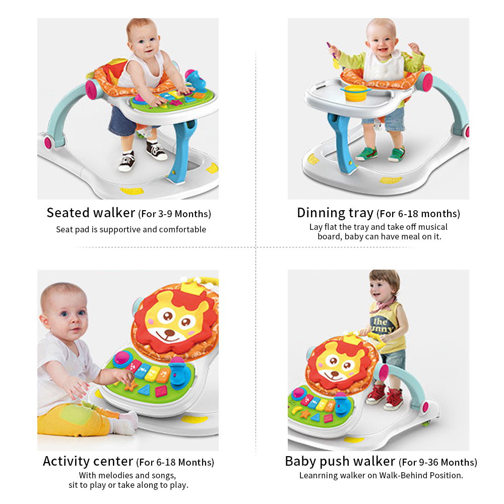 Baby Activity Center Us 103 33 47 Off 4 In 1 Baby Activity Play Center Walker Seated Baby Push Walker On Walk Behind Position Development Musical Toys For Girls Boys In