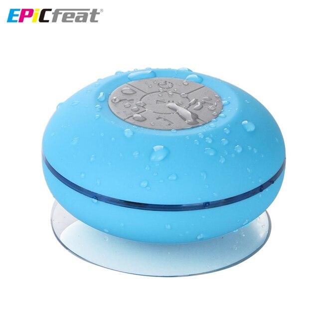 BTS-06 Bluetooth Portable Waterproof Wireless Speaker for Shower Music Player LED flash lighting Loudspeaker with Sucker