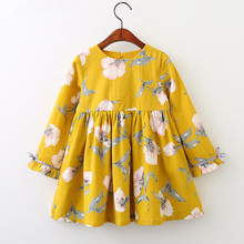 цена на Baby Spring Girl Dress Christmas Party Dresses For Kids Girls Floral Clothes Children Clothing Baby Girls Dress 3 4 5 6 7 Years