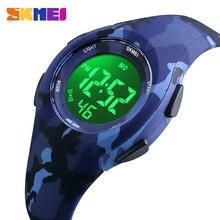 Skmei子供液晶電子デジタル腕時計スポーツ腕時計ストップウォッチ発光 5Bar防水子供腕時計女の子