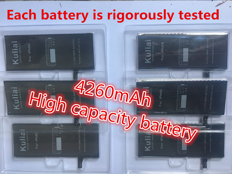 Image 2 - Kuliai Lithium Battery For Apple iPhone 6S 6 7 6sp  6p Replacement Batteries Internal Phone Bateria 4260mAh  + Free Tools-in Mobile Phone Batteries from Cellphones & Telecommunications