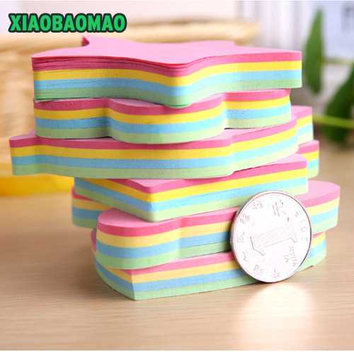 100 sheets color tree star sticky notes Color super Post it note Lumina paper stationery papelaria material School supplies
