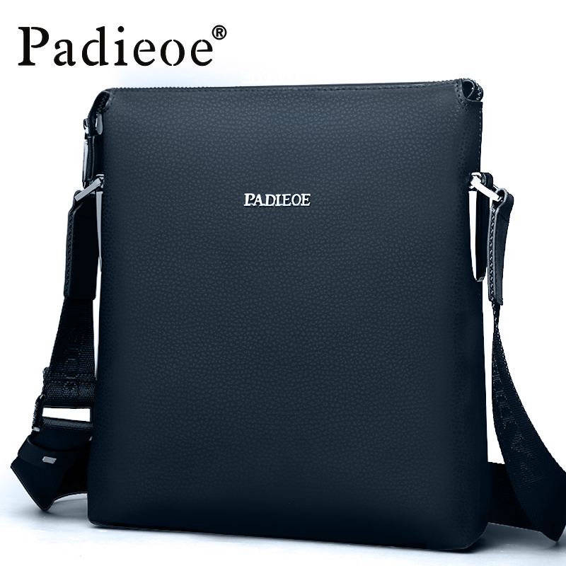 ФОТО Padieoe 2016 Best quality men's shoulder messenger bags genuine leather crossbody sling bags Leisure business handbags for male