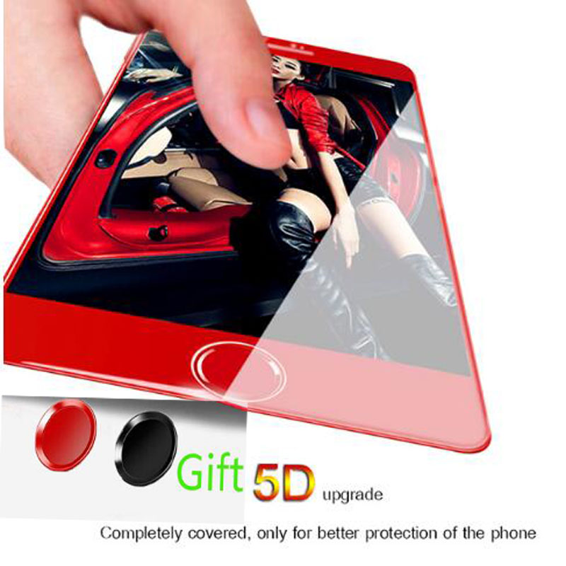 5D Curved Screen Protector For iphone 7 plus Protective glass 4D full-screen cover Edge for 6 6s tempered