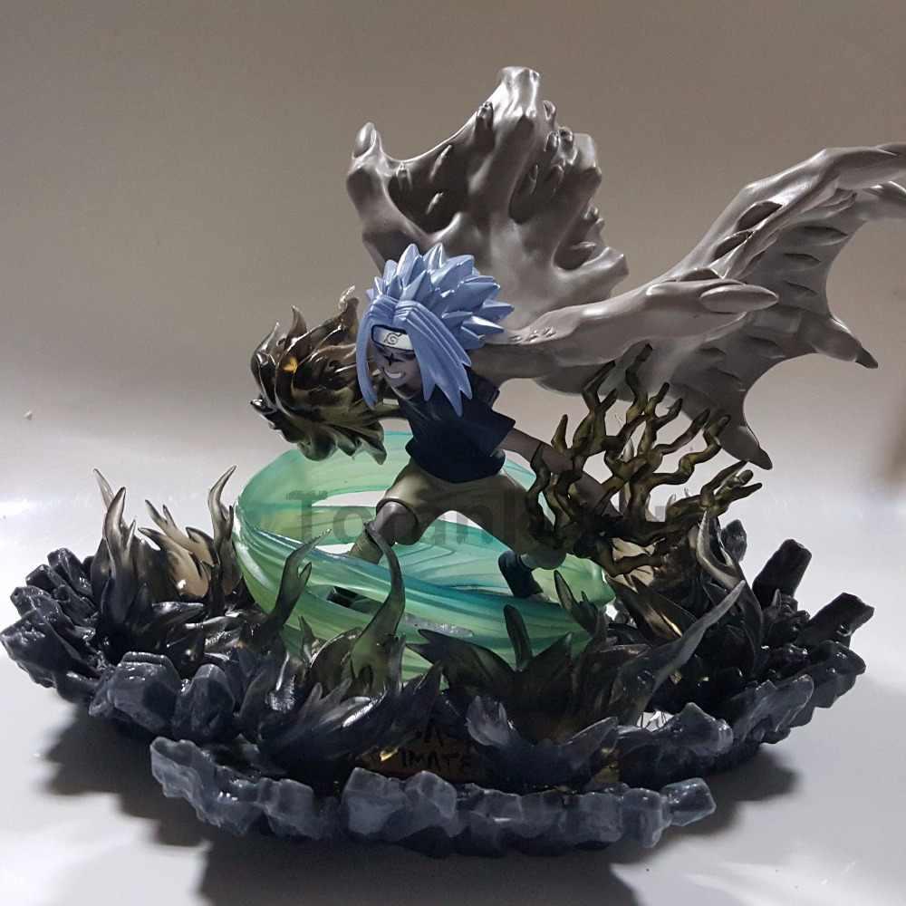 Naruto sasuke pvc figuras de ação anime naruto shippuden uchiha sasuke amaterasu iluminação led modelo brinquedo estatueta diorama
