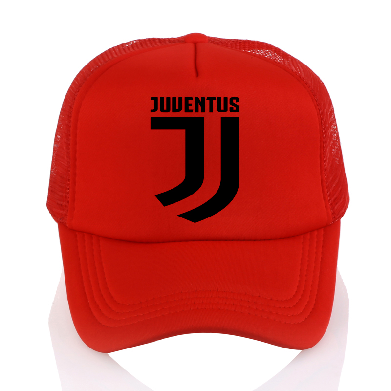 192992eb3c0d4 Juventus Print Baseball Caps Summer Adjustable Mesh Cap Fans Club ...
