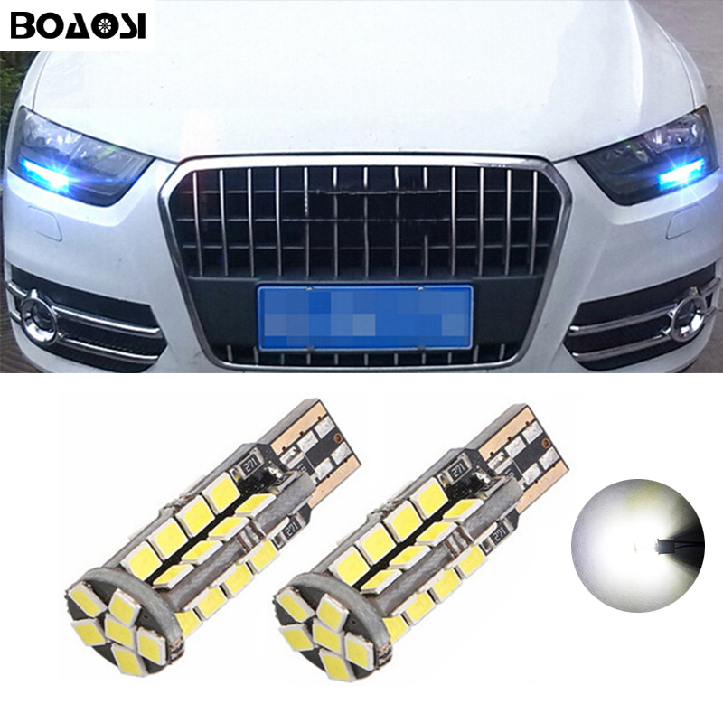 BOAOSI 2x Car LED T10 Canbus W5W No error Wedge Light For <font><b>AUDI</b></font> A2 A3 8L 8P A4 B5 <font><b>A6</b></font> 4B 4F A8 D2 TT Q3 Q5 Q7 <font><b>C5</b></font> C6 C7 S2 S4 image