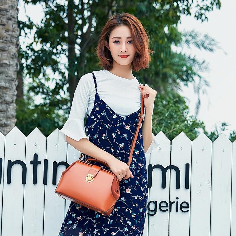 Nouveau design 2018 Femmes Sac à Bandoulière en cuir de VACHE sac Casual Sacs À Main petit haut mode 100% véritable en cuir y compris gratuite