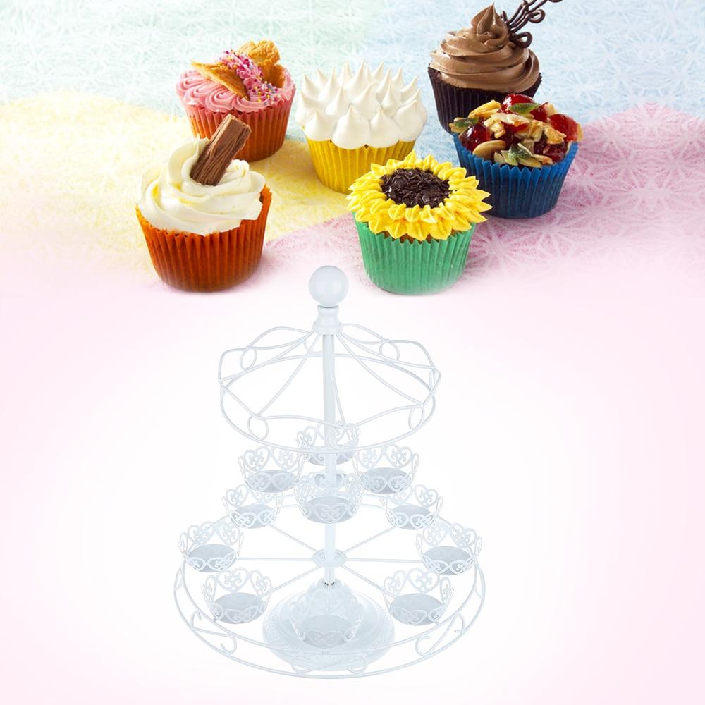 Original détachable 3 Tier 12 Cupcake Stand fête décoration Dessert titulaire mariage décoration outils cuisine accessoires