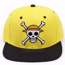 Anime One Piece luffy cráneo CAPS hombres mujeres casual algodón béisbol  SnapBack hip hop cap 8499803d286