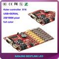 LED контроллер карты X16 полноцветный контроллер карты 256*9999 ПИКСЕЛЕЙ p6 p8 p10 p12 p16 p20 светодиодный рекламный видео экран стены