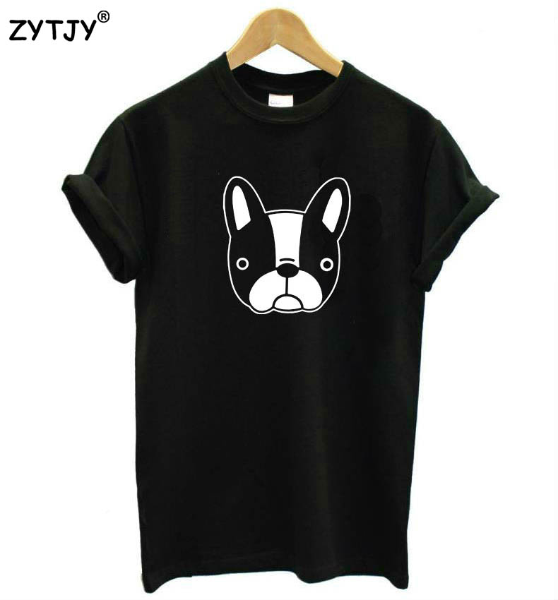 French bulldog print women tshirt casual casual for Drop ship t shirt printing