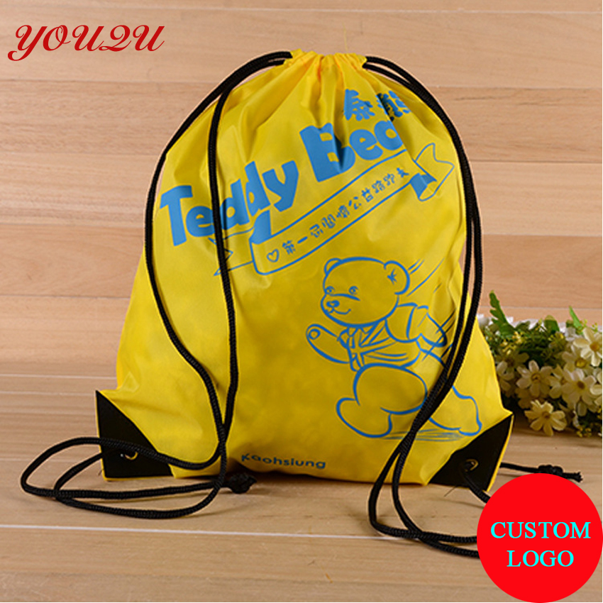 Promotion drawstring bag with  210D polyester free shipping