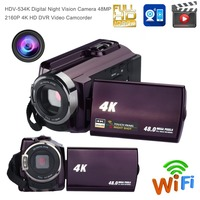 Digital Video Camera Night Vision Camera 48MP 2160P 16x Zoom Video Camcorder 4K HD DVR Wifi Camcorder 3.0 Touch Screen