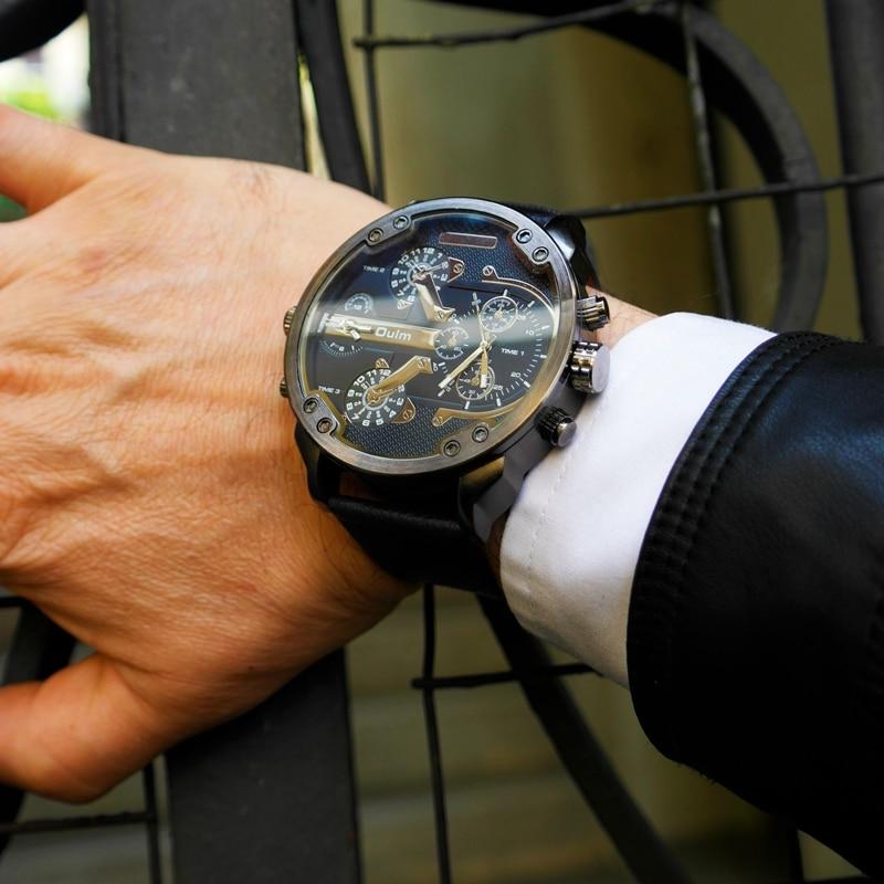 Beroemde Designer Heren Horloges Topmerk Luxe Quartz Horloge Oulm PU - Herenhorloges - Foto 3