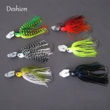 Deshion 1PC 14g Spinner Bait Fishing Lure Buzzbait Chatter Bait Artificial Rubber Skirt Chatterbait For Bass kampfer chatter kp 1209