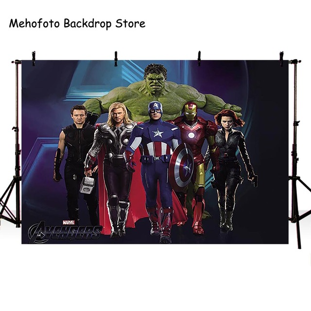 Mehofoto Photography Backgrounds Superhero Photo Backdrops Shoot Man Hulk Captain America Movie Character lv-388