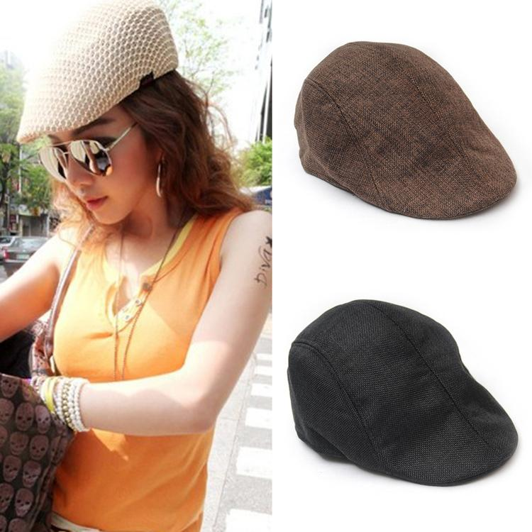Hot Sale Fashion Retro Autumn Style Unisex Flax Cap Comfortable Hat Warmer Berets 4 Colors