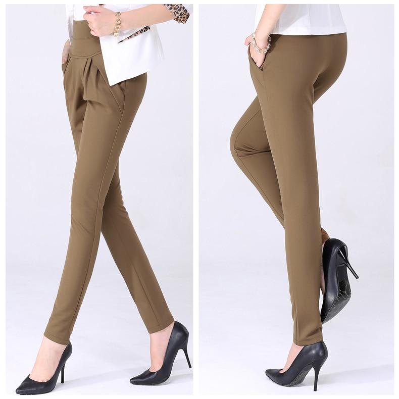 New Autumn Women Casual Loose High Waist Harem Pants Ladies Office Pants Plus Size Trousers S~4XL 5XL 6XL Blue Red Khaki Brown 2
