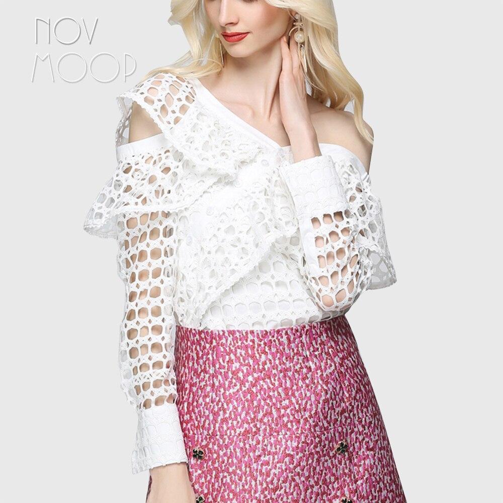 150690b3133 Ruches White Vintage Échancré Hauts Chemise En pink Asymétrique Pic Sexy  Robe Dentelle Pic Longues Blanc Femmes Per Lt2167 Feminina Manches ...