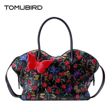 free supply Real Leather-based ladies bag Unique embossing course of 2016 new single shoulder Messenger bag Butterfly embossed