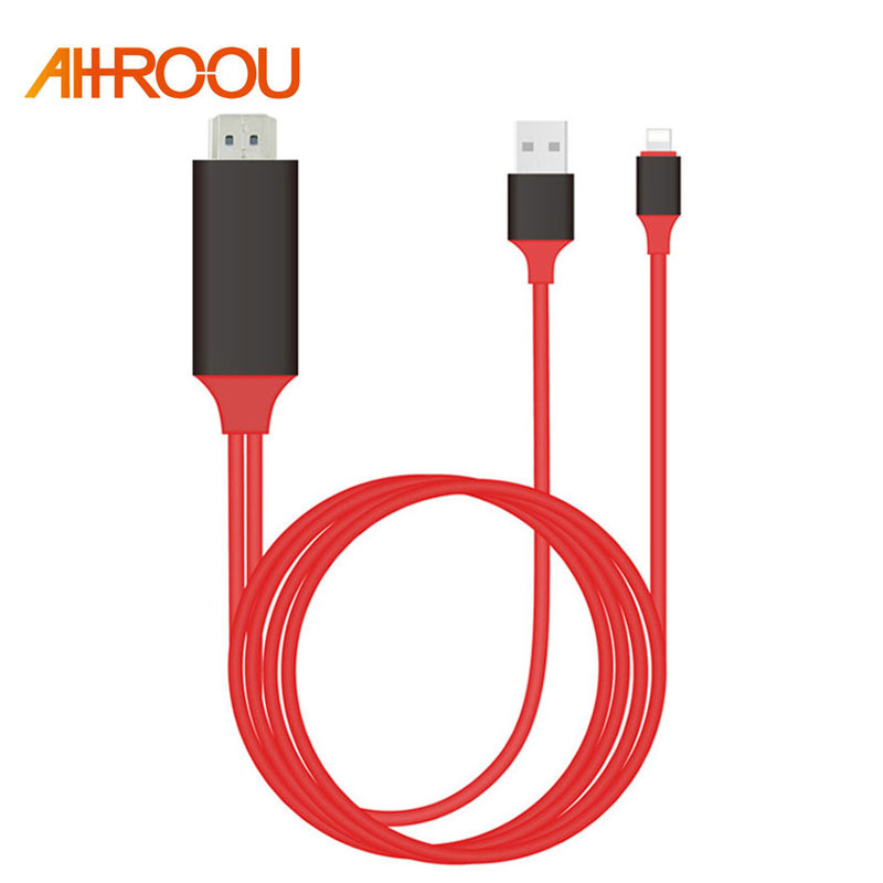 Plug & Play 2M 8 Pin For Lightning to HDMI Cable HD 1080P HDMI Converter Adapter Cable For iPhone X 8 7 6 6S Plus IOS 10.3 /11|hdmi converter|hdmi converter adapter1080p hdmi - AliExpress