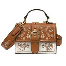 Fashion Embroidery Women Handbag Shoulder Bag Flap Bag Designer PU Leather Handbag Women Messenger Bags Bolsa Feminina 2019 New