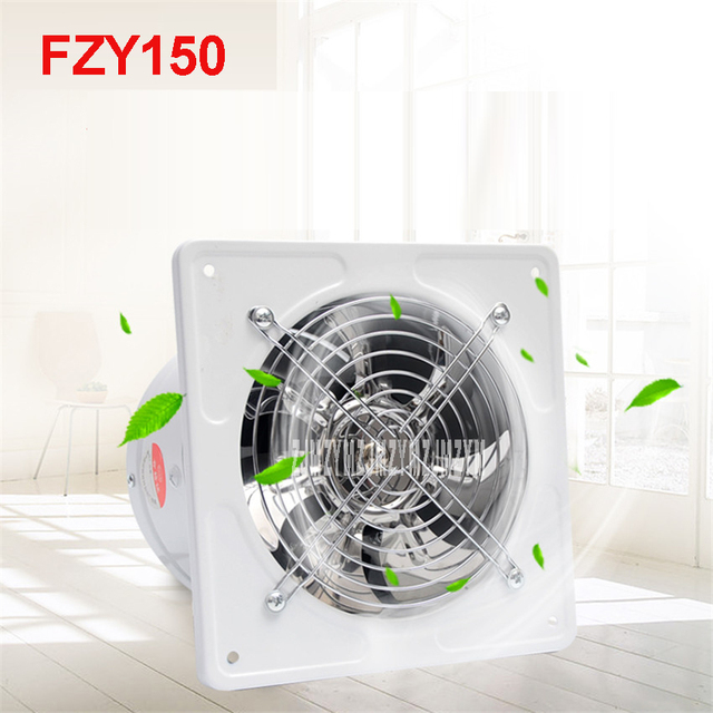 FZY150 Mini Wall Window Exhaust Fan Bathroom Kitchen Toilets Ventilation Fans 2800r Min Windows