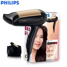 Philips High-power Electric hair dryer HP4989 with 3 files small-volume constant-temperature for Household Dormitory household high power hair dryer hot and cold wind constant temperature salon professional hair dryer
