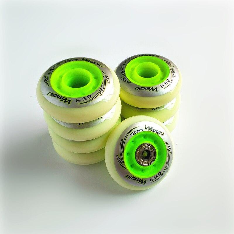 Scooter Parts & Accessories Hard-Working 8 Pcs/lot Inline Skates Wheel With Abec Skating Bearing 80mm 76mm 72mm Skate Rodas For Fsk Slalom Hv High Ksj Wfsc Igor