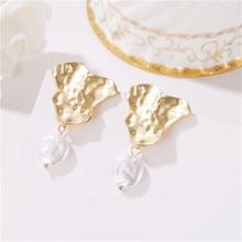 New Fashion Womens Baroque Drop Earrings White Imitation Pearl Dangle Brinco Elegant Gift Jewelry Wholesale