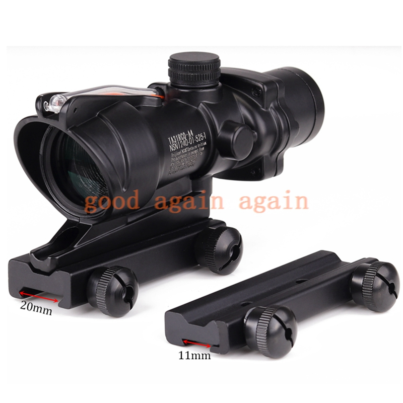 Trijicon ACOGG 4x32 Optics Sight Red Fiber Optical Scope Duel Illuminated Riflescope Airsoft Hunting Rifle Rifle Scope