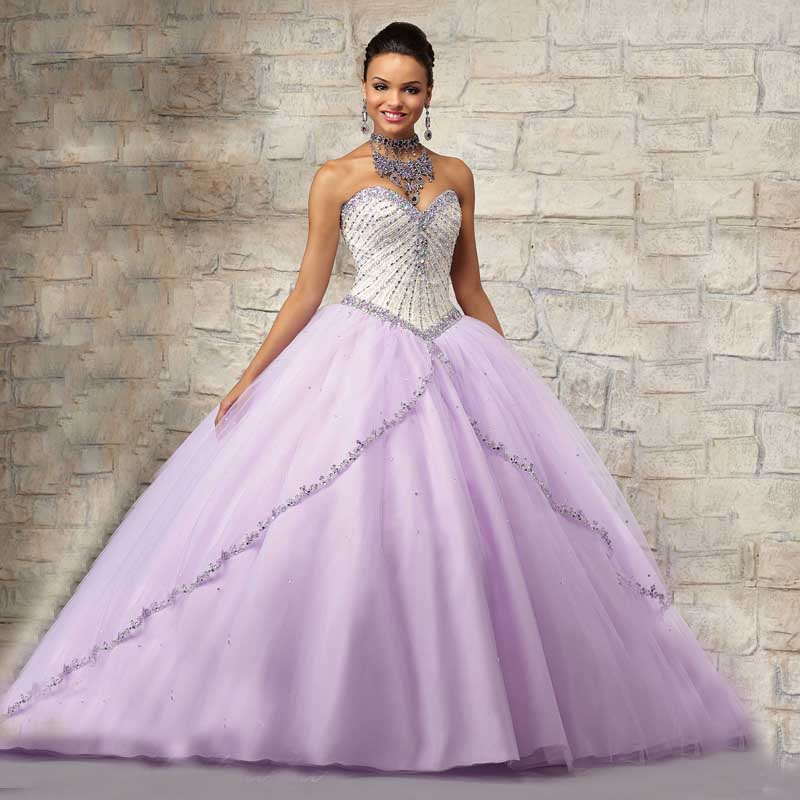 Orange and Purple Sweet Sixteen Dresses