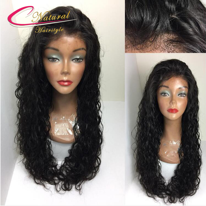 Water Wave Lace Front Human Hair Wigs Brazilian Virgin Hair Density 130 Cheap Price Best Quality