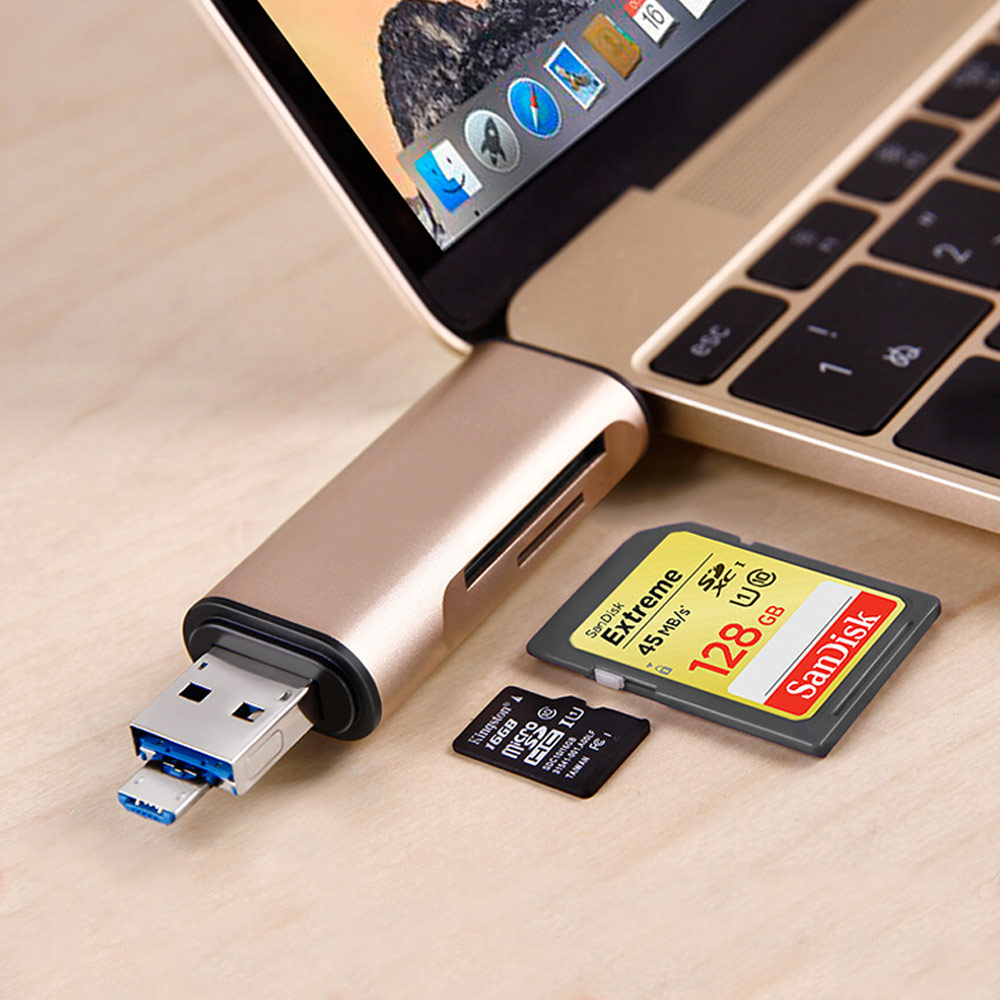 Memory Card Reader,Micro SD TF Card Reader and USB C Type C OTG Converter to USB 2.0 Adapter for iPhone/iPad Android/ MacBook PC бесплатная доставка универсальный кард ридер мобильный телефон pc card reader micro usb otg card reader otg tf sd флэш памяти 480